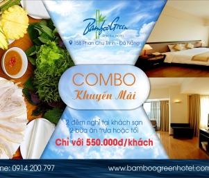 Combo KHUYẾN MÃI tại BAMBOO GREEN CENTRAL HOTEL (Chỉ với 550.000đ/khách)